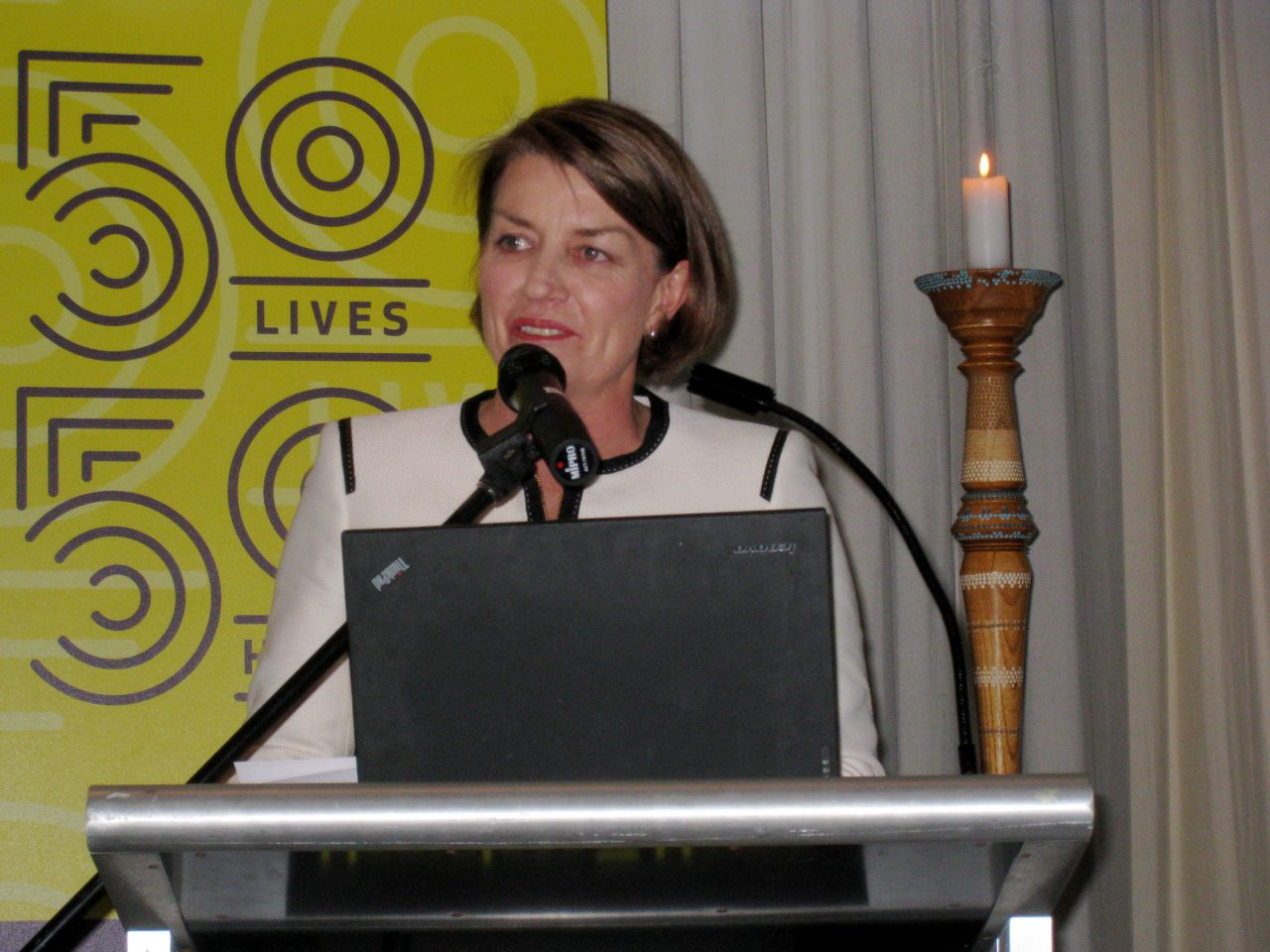 Premier Anna Bligh addressing a Forum