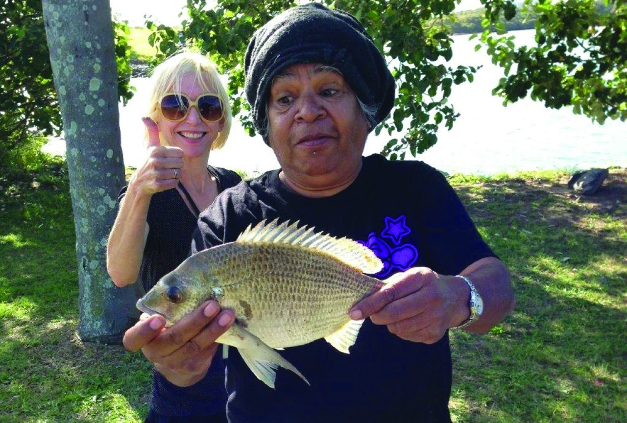 Service user and Worker at their weekly fishing trip